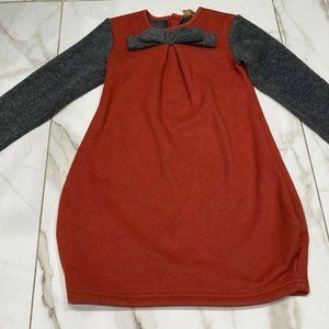 So What Long Sleeved Red Grey Sweater Dress Size 4